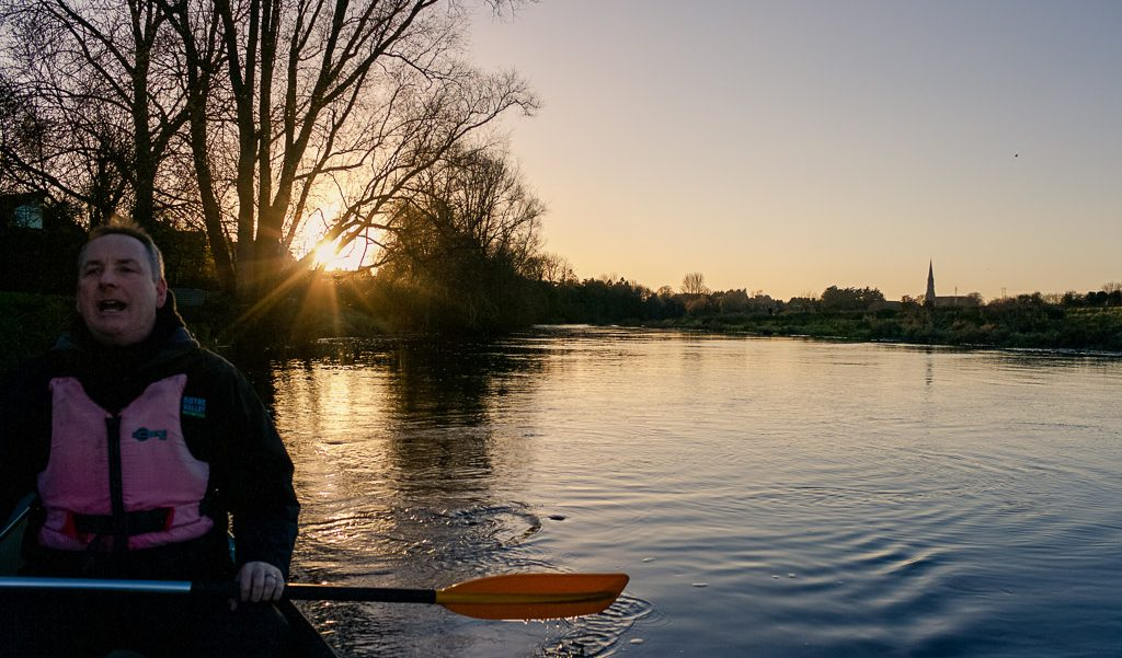 Kayaking on the River Boyne in Trim, Ireland