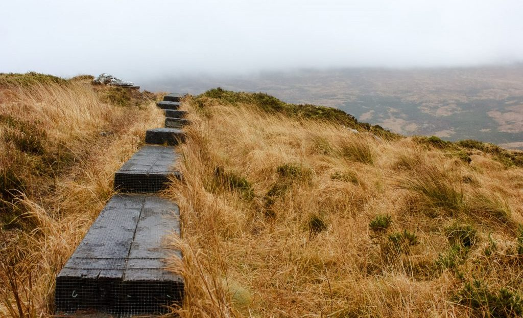 Torc Mountain trail - hiking in Ireland