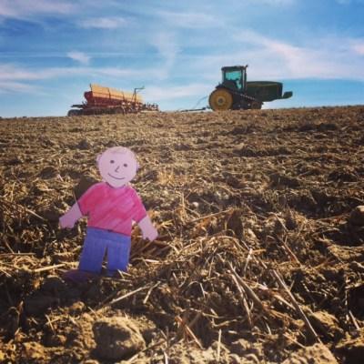 Flat Aggie Visits a Wheat Farm in Washington