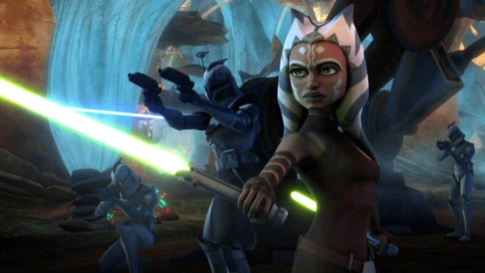 Ahsoka Tano  in Star Wars: The Clone Wars on Disney+.