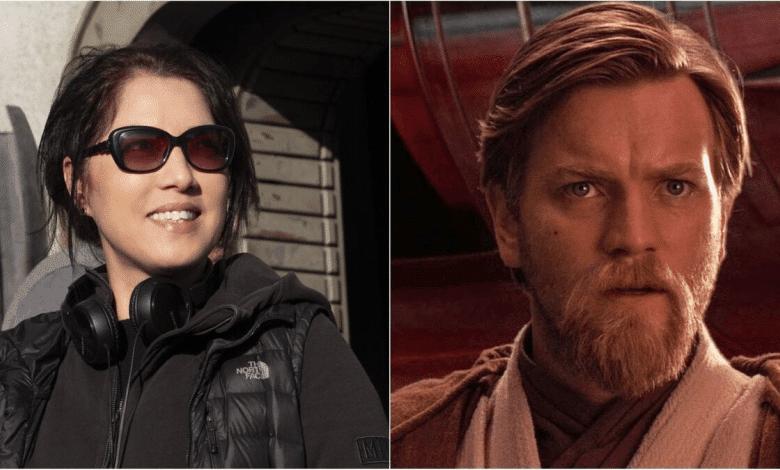 Deborah Chow and Ewan McGregor as Obi-Wan