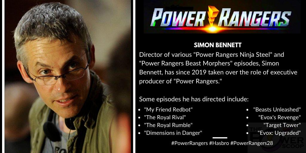 Power Rangers and Simon Bennett