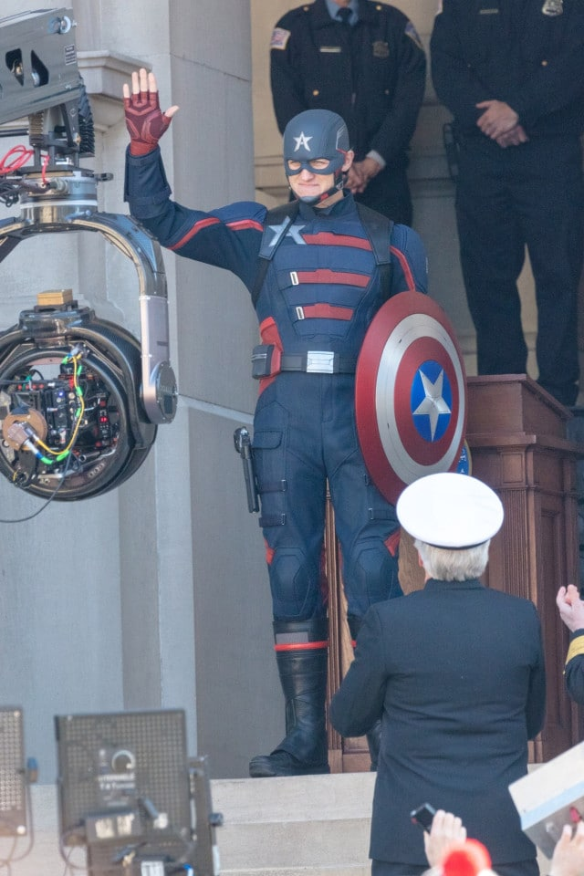 U.S. Agent Waves Captain America's Shield