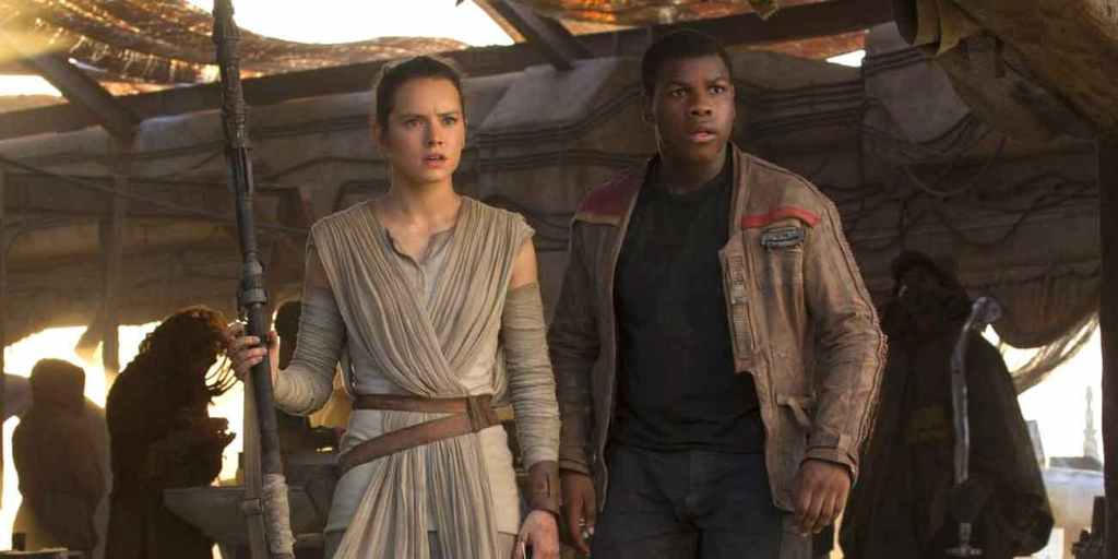 Finn and Rey Star Wars Daisy Ridley John Boyega