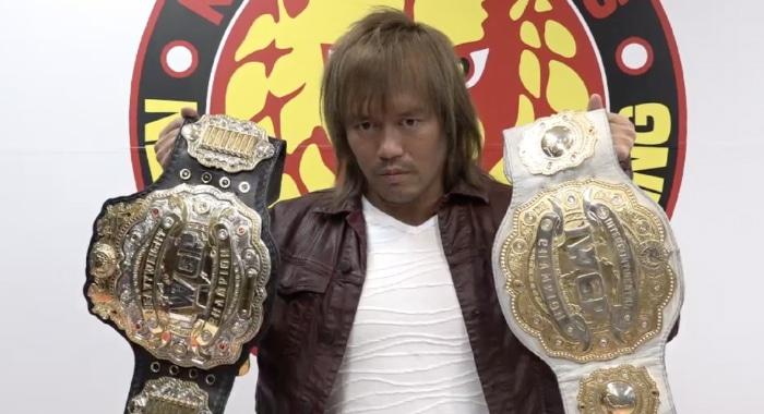 Naito Holds Championship Belts