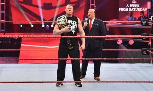 WWE Brock Lesnar and Paul Heyman