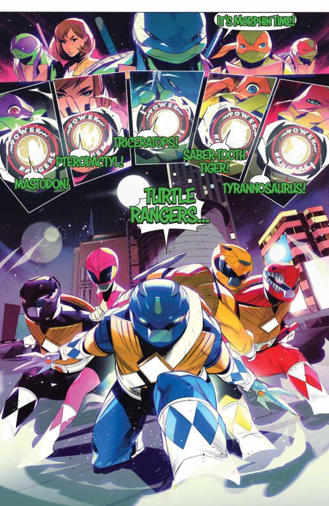 Mighty Morphin' Power Rangers/Teenage Mutant Ninja Turtles #4 Review - The Illuminerdi