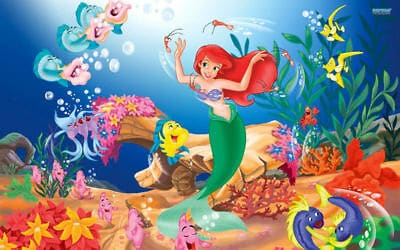 the little mermaid under the sea