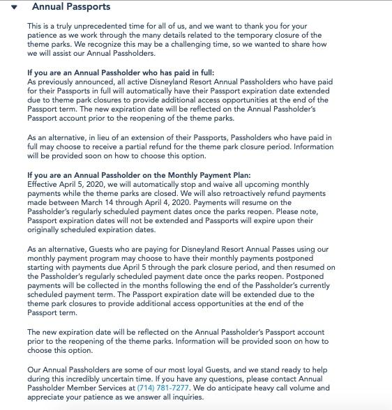 Disneyland Resort AP Revised Policy
