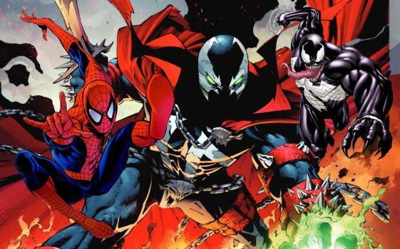 spawn spider man venom