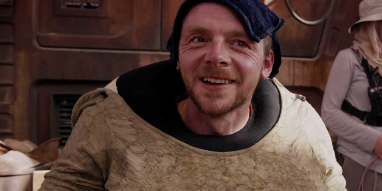 Simon Pegg Shows Genius By Fan-Casting Himself As This Star Wars Character In The Mandalorian