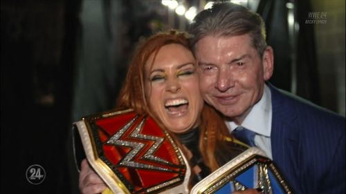vince mcmahon and becky lynch