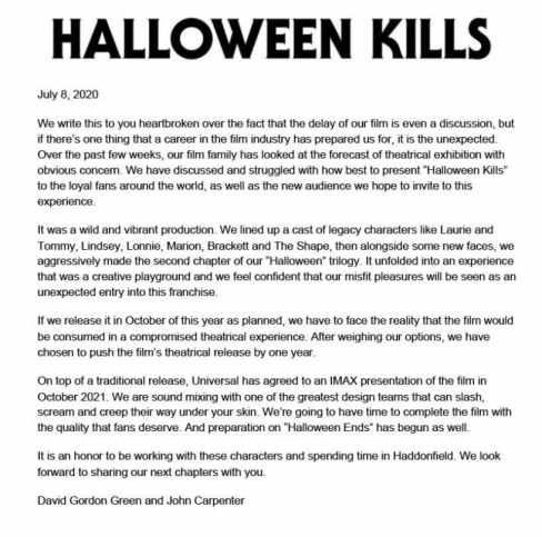 Halloween Kills First Look Arrives Alongside New Release Date And Trailer, Carpenter Promises High Body Count - The Illuminerdi