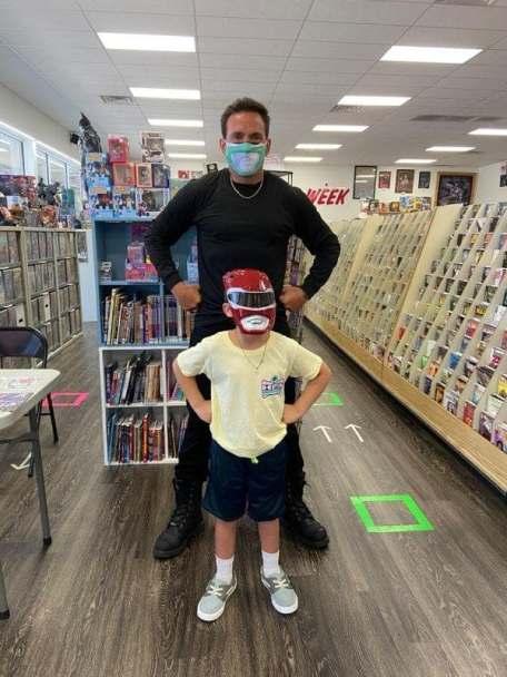 Jason David Frank and Young Ranger