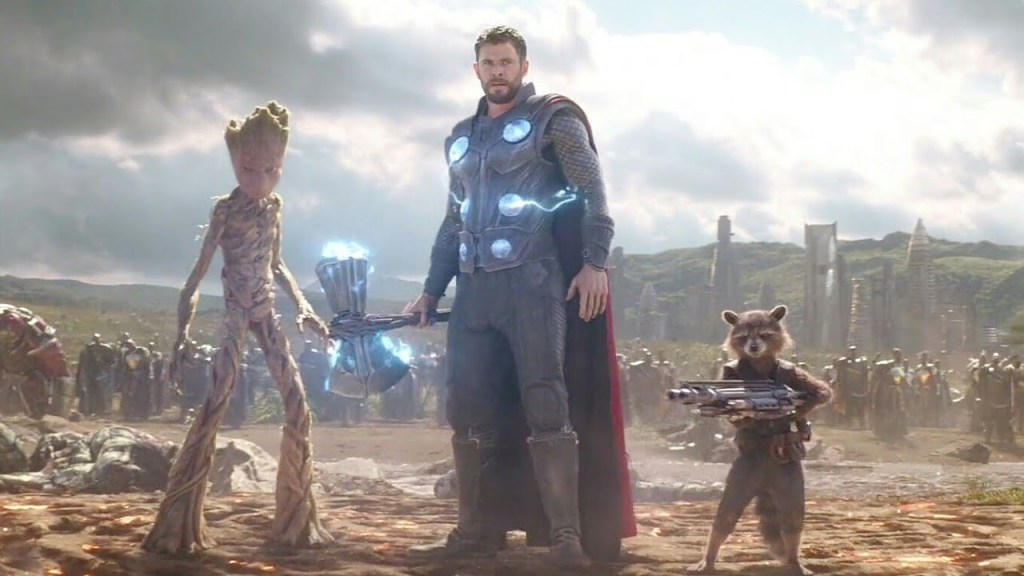Thor Rocket Groot Avengers Infinity War Love and Thunder