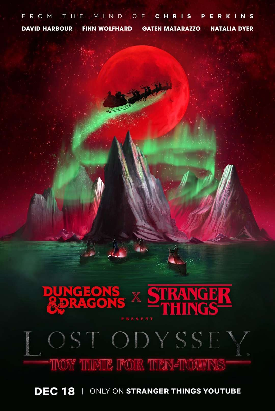 Stranger Things Dungeons and Dragons Dungeons & Dragons Lost Odyssey poster