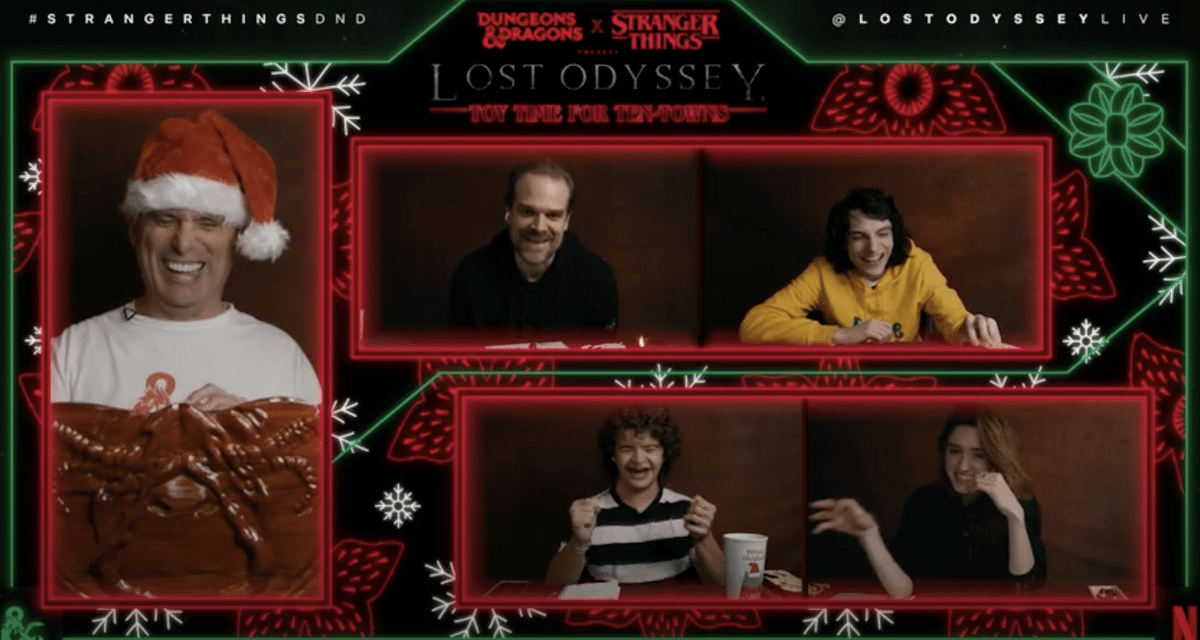 Watch The Cast Of Stranger Things Play Dungeons and Dragons For The Holidays Now
