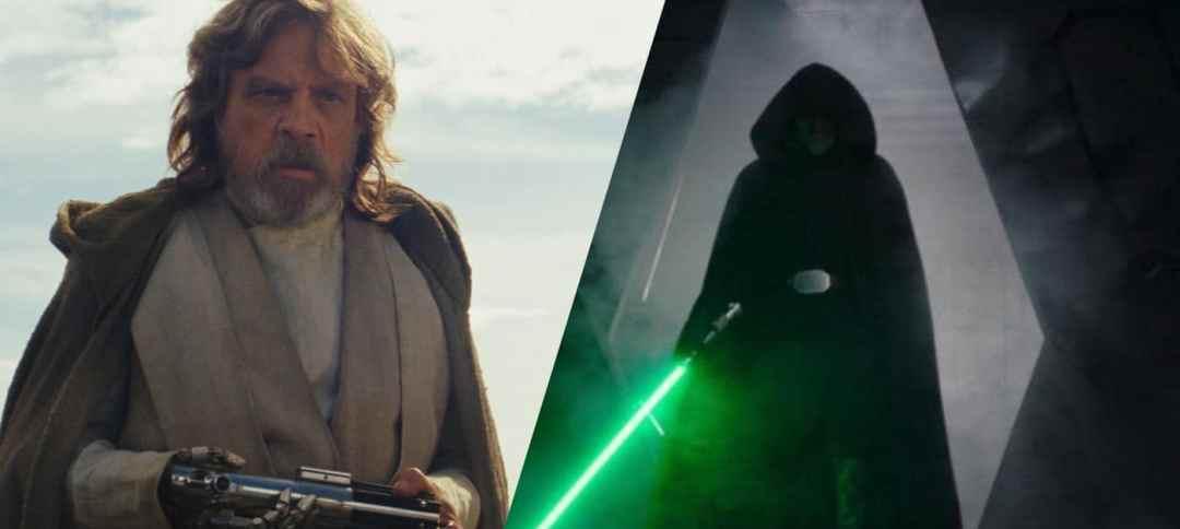Mark Hamill Luke Skywalker lightsaber young old