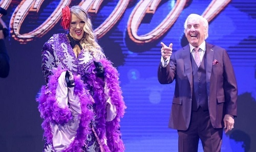 WWE Lacey Evans and Ric Flair