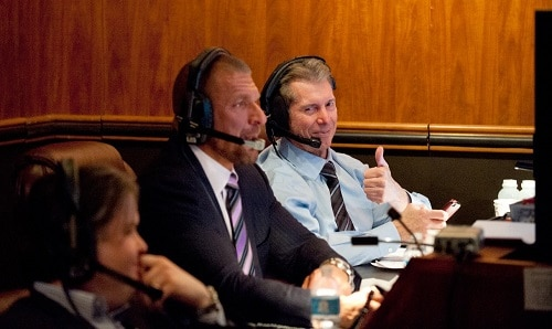 WWE Triple H and Vince McMahon
