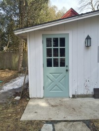 A Wythe Blue door on a falling-down garage | The Impatient ...