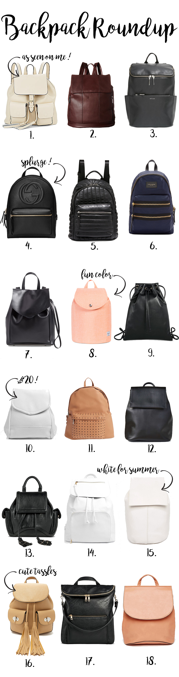 backpack roundup