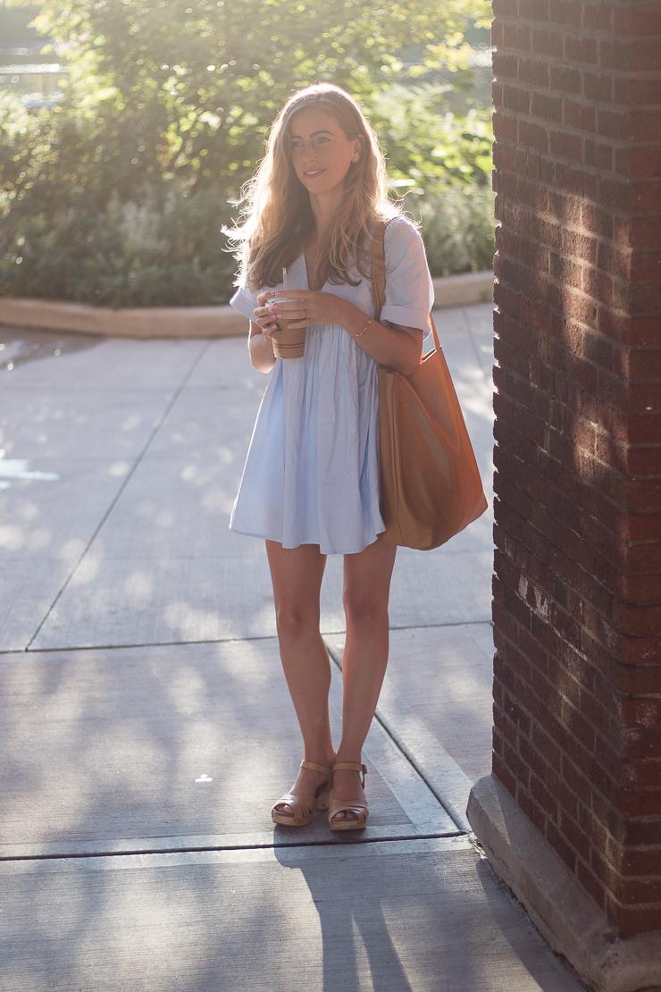 blue dress full length