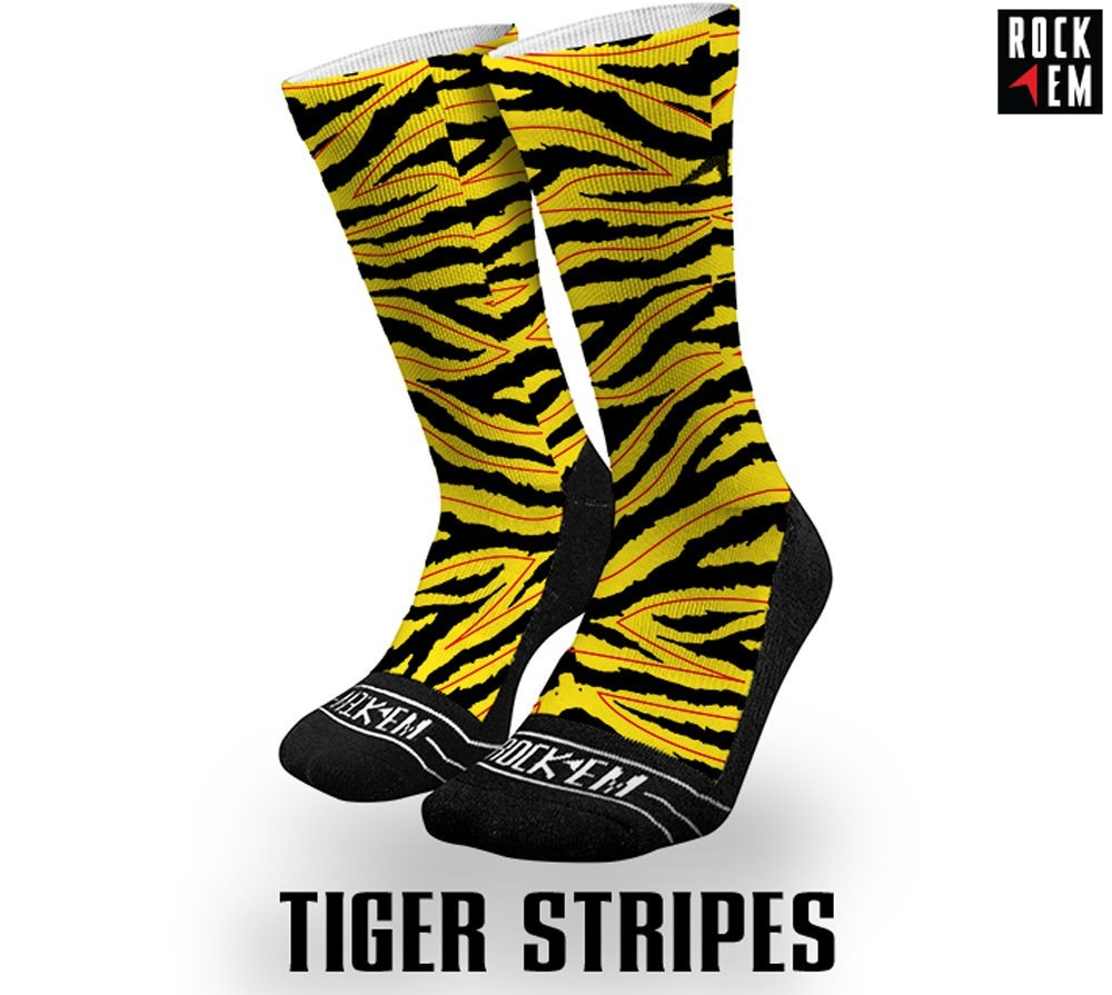 Tiger Stripes Sublimated Sock