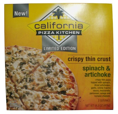 Review Limited Edition California Pizza Kitchen Spinach Artichoke Pizza The Impulsive Buy
