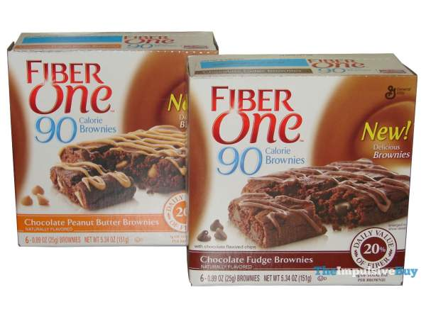 Fiber One 90 Calorie Brownies (Chocolate Peanut Butter and Chocolate Fudge)