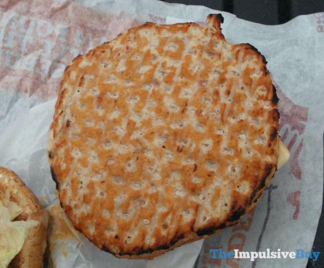 Hardee's Jalapeno Turkey Burger Patty Closeup