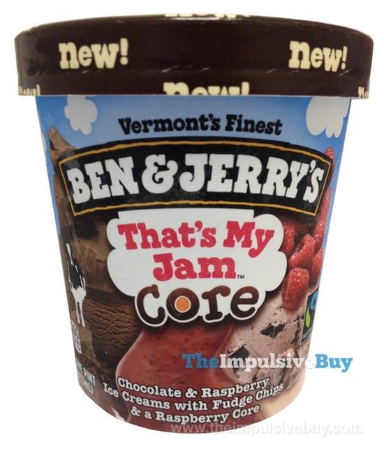 Ben & Jerry's That's My Jam Core Ice Cream