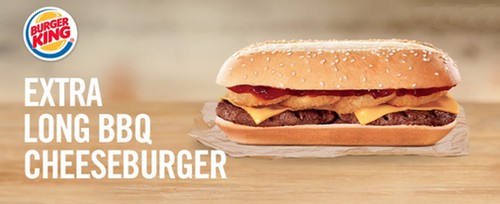 Burger King Extra Long BBQ Cheeseburger