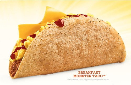 Jack in the Box Breakfast Monster Taco