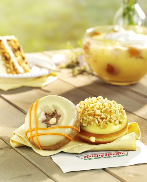 Krispy Kreme Carrot Cake and Banana Pudding Doughnuts