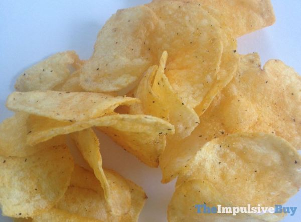Lay's Cheddar Bacon Mac & Cheese Potato Chips Closeup