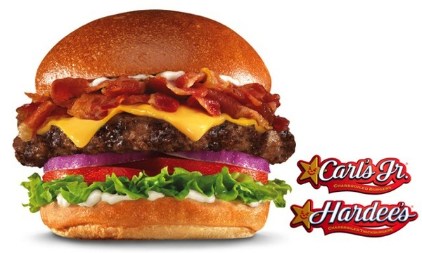 Carl s Jr and Hardees s Mile High Bacon Cheese Thickburger