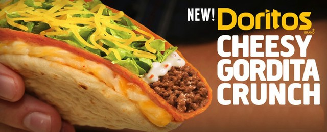 Taco Bell Doritos Cheesy Gordita Crunch