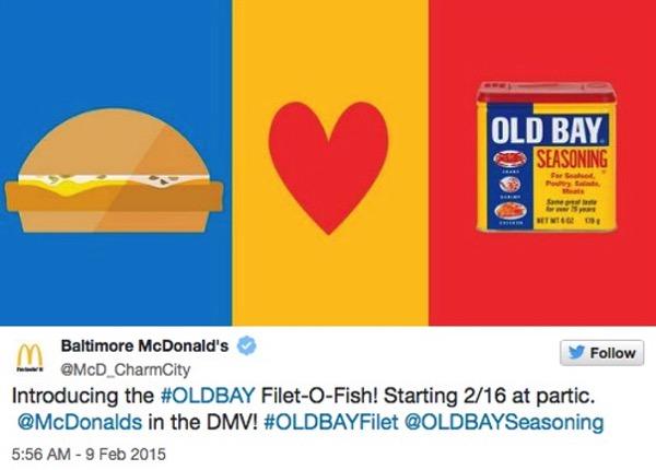 McDonald s Old Bay Filet O Fish