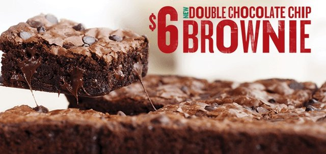 Papa John s Double Chocolate Chip Brownie
