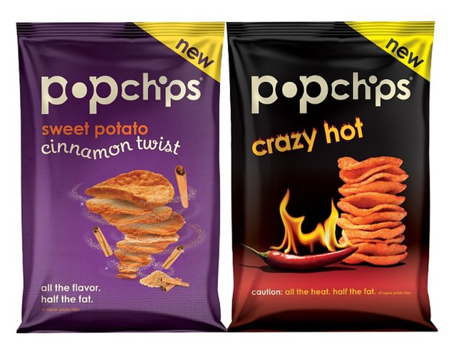 Popchips Crazy Hot Potato and Cinnamon Twist Sweet Potato