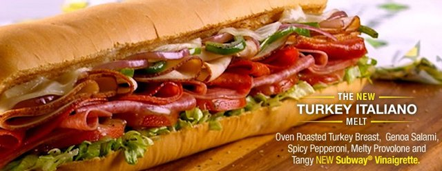 Subway Turkey Italiano Melt