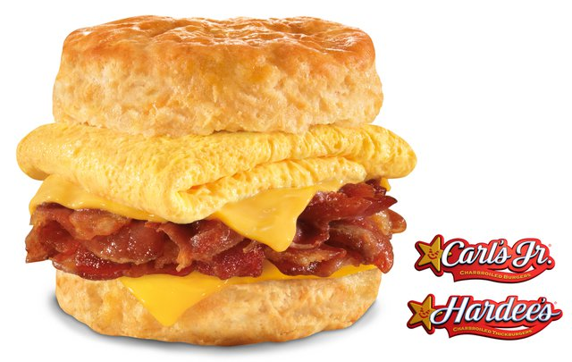 Carl s Jr Hardees Mile High Bacon Egg Cheese Biscuit