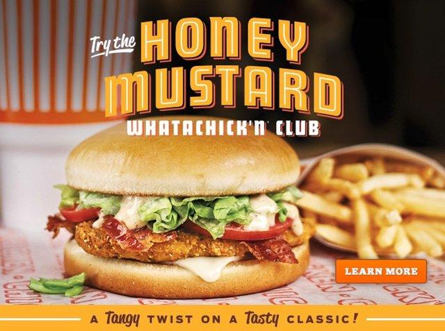 Whataburger Honey Mustard Whatachick n Club