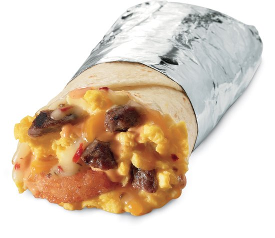 Jack in the Box Steak and Egg Burrito