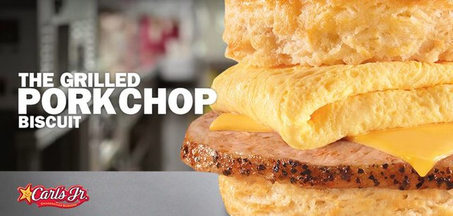 Carl s Jr Grilled Pork Chop Biscuit