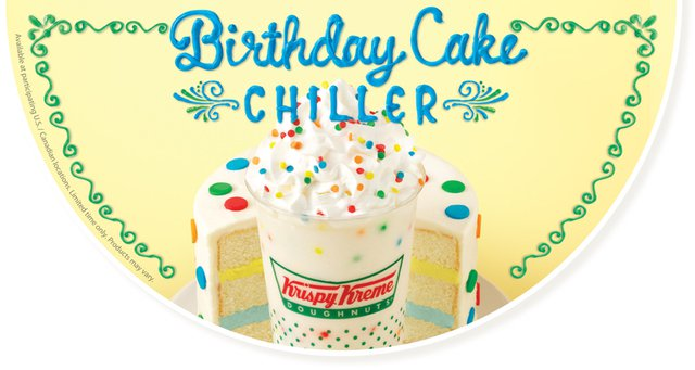 Krispy Kreme Birthday Cake Chiller