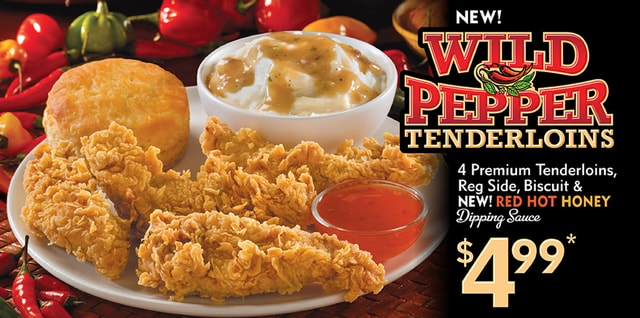 Popeyes Wild Pepper Tenderloins