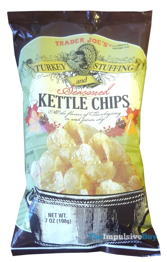 Trader Joe's Turkey and Stuffing Seasoned Kettle Chips