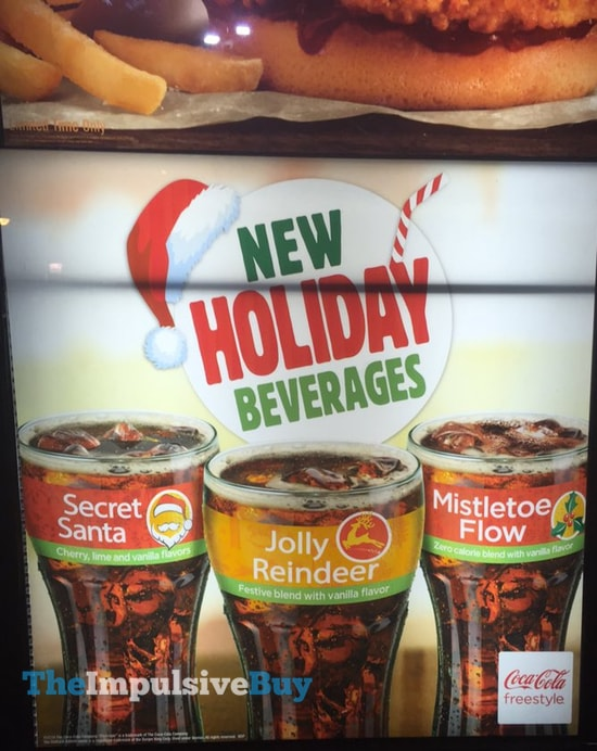 Burger King Holiday Beverages  Secret Santa Jolly Reindeer and Mistletow Flow